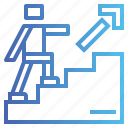 arrow, stair, stairs, steps, up icon