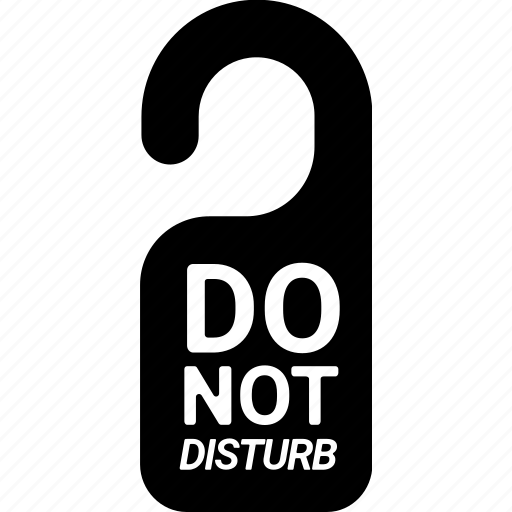 disturb, do not disturb, door, hostel, hotel, privacy, private icon