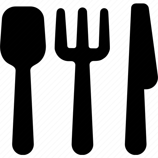 breakfast, dinner, food, fork, knife, lunch, spoon icon