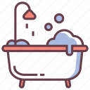 bath, bathroom, bathtub, clean, relaxation, shower, tub icon
