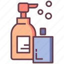 bathroom amenities, hygiene, lotion, shampoo, soap, toiletries, toiletry icon
