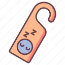 do not disturb, hotel, privacy, private, room, sleep, tag icon