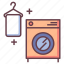 clean, equipment, household, laundry, laundry room, machine, washing icon