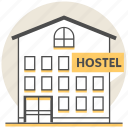 building, hostel, hotel, resort, services icon