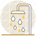 bath, hostel, hotel, resort, room, services, shower icon
