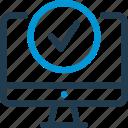 check, data, host, hosting, information, ok, server icon