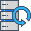 cloud, data, database, hosting, recovery, server icon