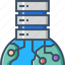 cloud, data, database, global, hosting, server, storage icon
