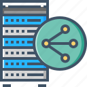 cloud, hosting, server, shared icon