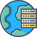 cloud, global, hosting, online, server, vps icon