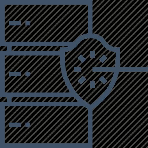 data, database, network, protection, security, server, storage icon