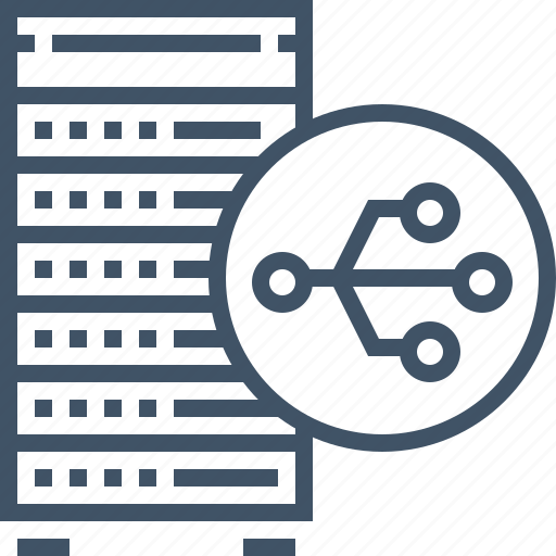 cloud, database, hosting, network, server, shared, storage icon