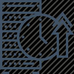 hosting, network, performance, rack, server, speed, uptime icon