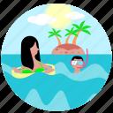 travel, beach, recreation, summer, swimming, diving