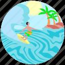 beach, recreation, sea, summer, surfing, surfing board, travel