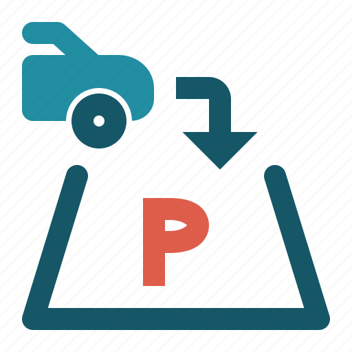 business, hotel, mall, map, market, parking icon