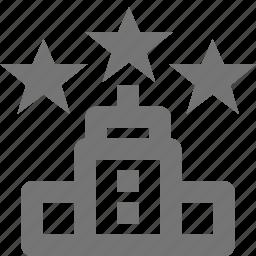 hotel, stars icon