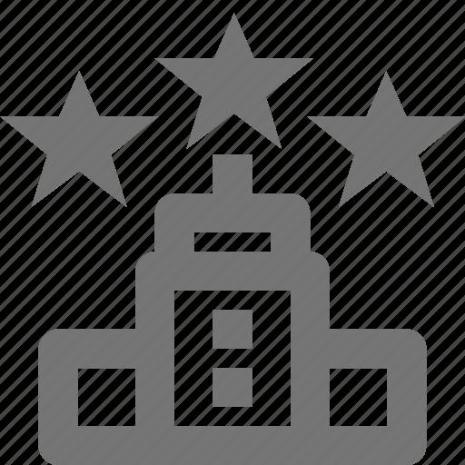 building, hotel, service, stars, three, travel, vacation icon