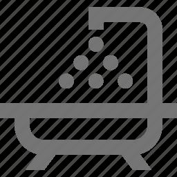 bath, bathroom, bathtub, hygiene, shower, wash icon