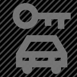 car, hotel, key, lock, secure, service, transportation icon