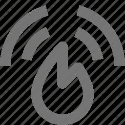 alarm, fire, flame, signal icon
