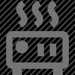 heat, heater, toaster icon