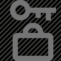 briefcase, lock, luggage icon