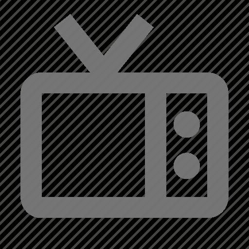 antenna, device, retro, technology, television, tv icon