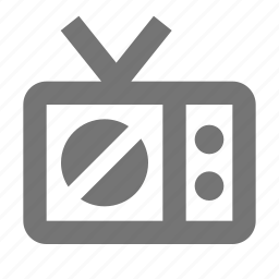 off, stop, television icon