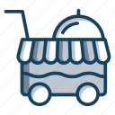 catering trolley, food service, food trolley, kitchen trolley, serving trolley icon