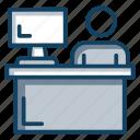 front desk, hotel reception, hotel service, reception, restaurant reception icon