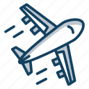aeroplane, air travel, airbus, airplane, flight icon