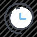 clock, passing, savings, timing, time, clockwise, daylight icon