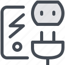 electronic, device, plug, electric, socket, electrician, electronics icon