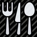 cutlery, spoon, fork, knife, restaurant
