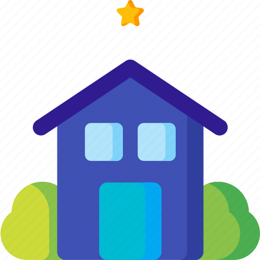 award, hotel, house, motel, rating, small, star icon