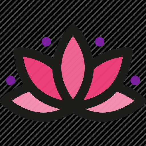flower, massage, pool, spa, treatment, yoga icon