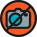 camera, image, media, no, photo, photography, picture icon