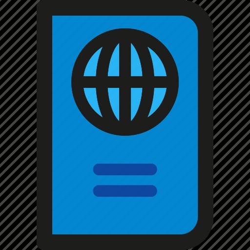hotel, passport, service, tourism, travel, vacation, visa icon
