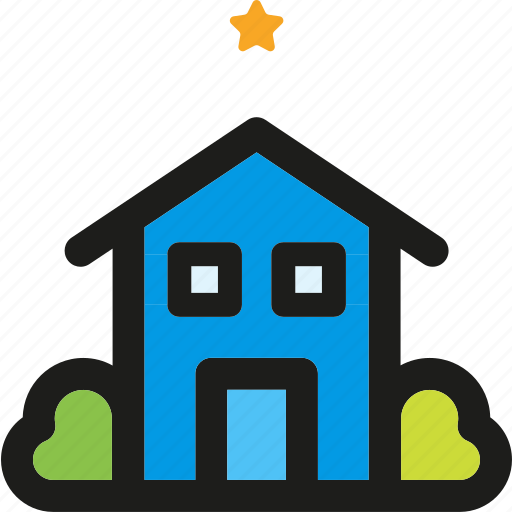 home, hotel, house, motel, rating, star icon