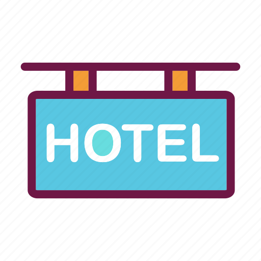 hotel, room, service, tourism, travel, vacation icon