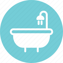 bath, bathroom, bathtub, shower icon
