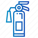 emergency, extinguisher, fire, firefighting, miscellaneous, safety icon