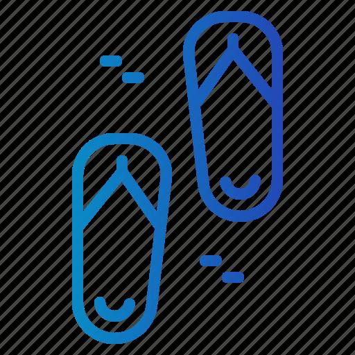 Fashion, flip, flop, flops, footwear, sandals, summertime icon - Download on Iconfinder