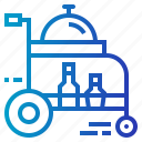cart, food, hotel, room, service, tray icon
