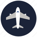 .svg, airplane, flight, plane, summer, transport, travel, vacation icon