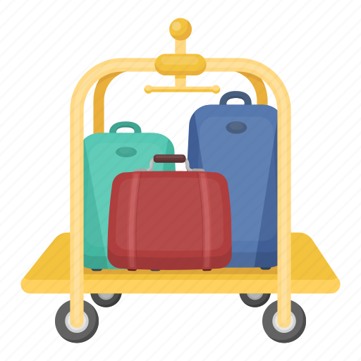 Bag, delivery, equipment, hotel, luggage, service, trolley icon - Download on Iconfinder