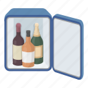 alcohol, bar, drink, equipment, hotel, mini, refrigerator icon