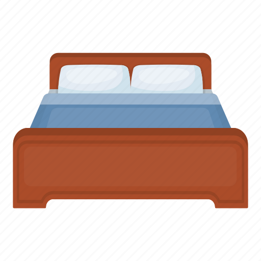 bed, furniture, hotel, interior, pillow, rest, sleep icon