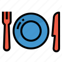 dinner, dish, food, plate, restaurant icon